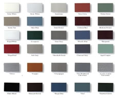 Metal Roof Color Chart by Golke Brothers Wisconsin